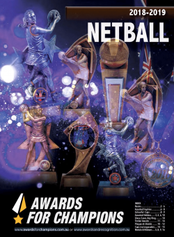 Awards for Champions - Netball 2019