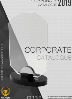 Aus Trophy - Corporate Awards 2019