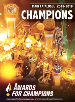 Awards for Champions - Main Catalogue 2019